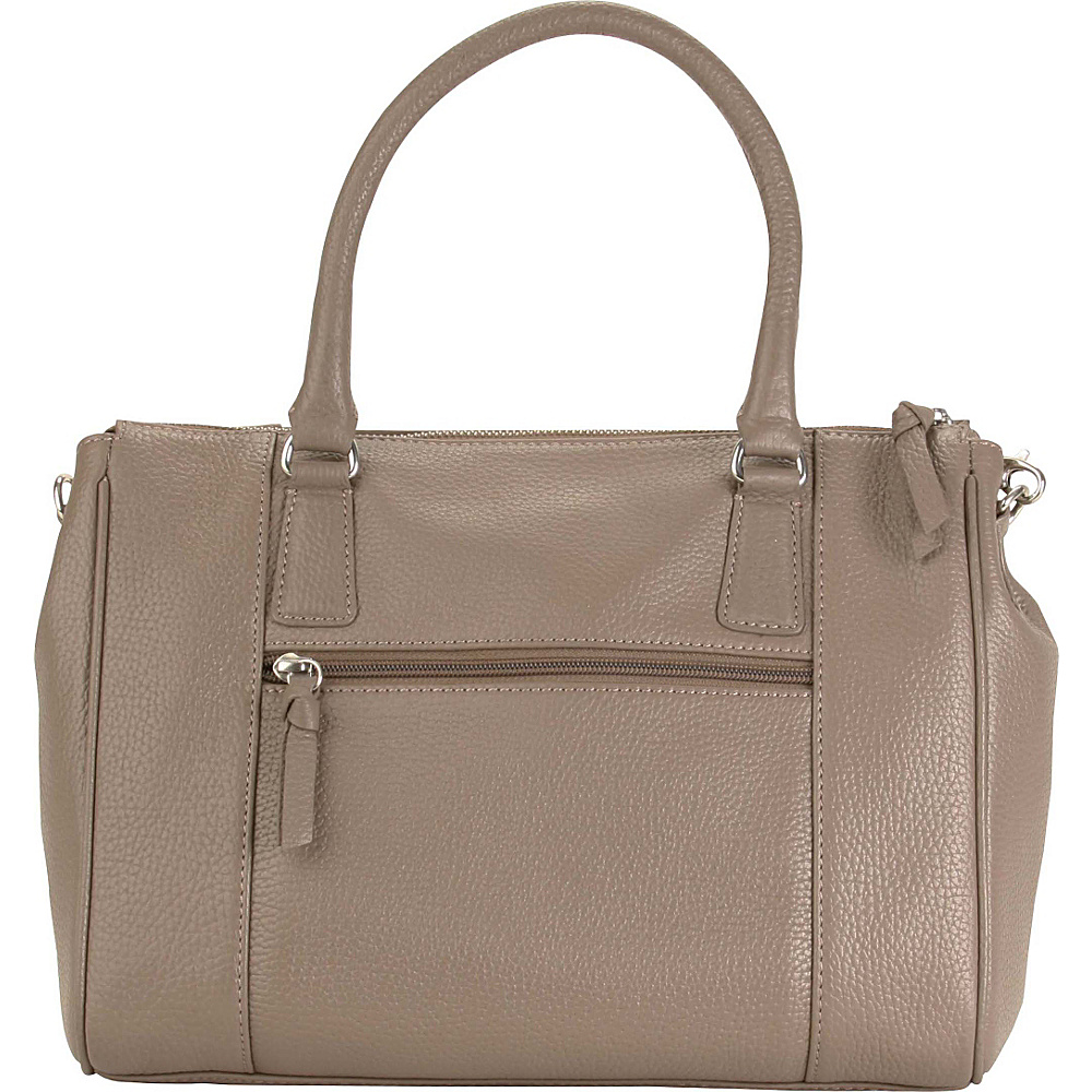 Hadaki Valerias Satchel Taupe - Hadaki Leather Handbags - Handbags, Leather Handbags