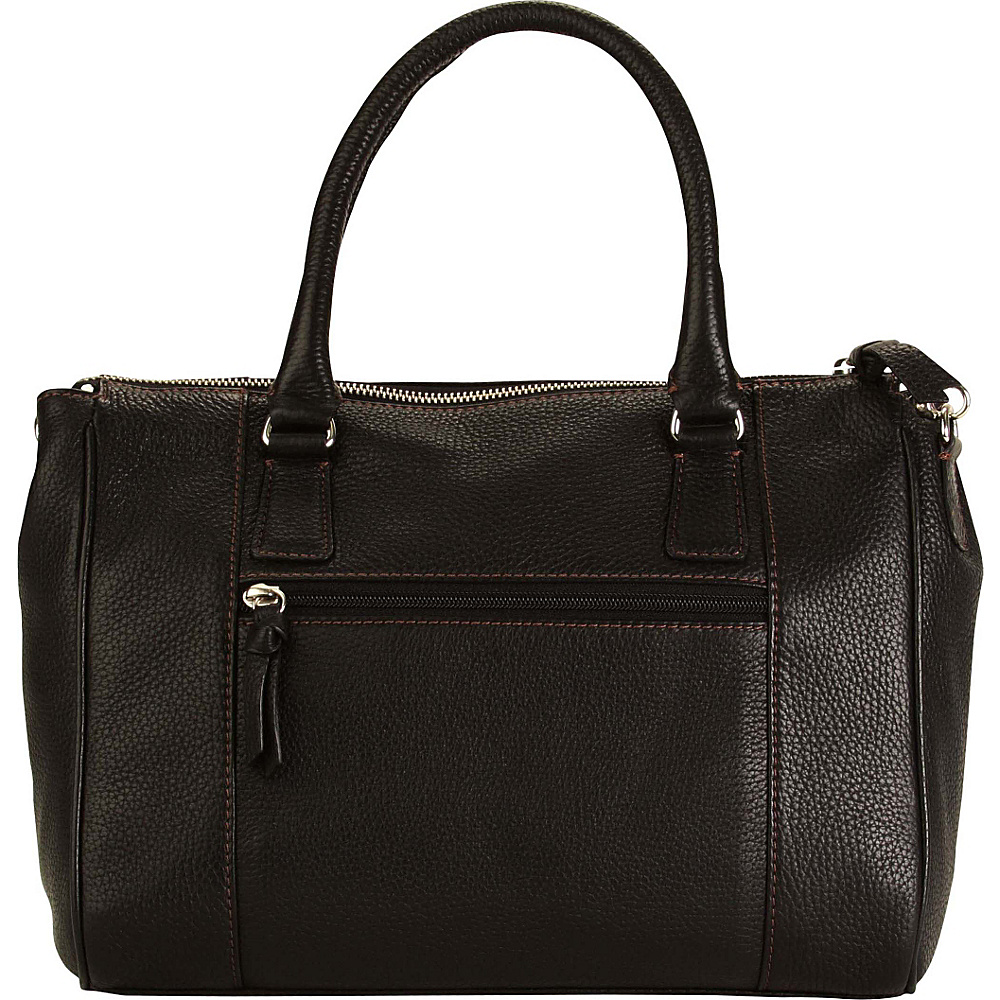 Hadaki Valerias Satchel Black - Hadaki Leather Handbags - Handbags, Leather Handbags