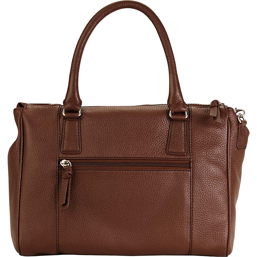 Hadaki Valerias Satchel Cognac - Hadaki Leather Handbags - Handbags, Leather Handbags