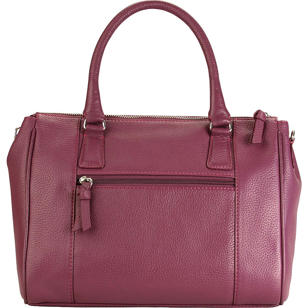 Hadaki Valerias Satchel Plum - Hadaki Leather Handbags - Handbags, Leather Handbags