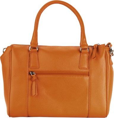 Hadaki Valeria's Satchel Russet - Hadaki Leather Handbags