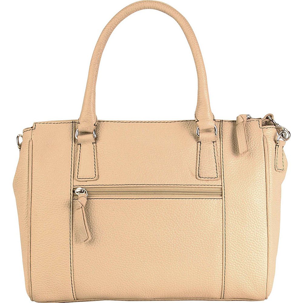 Hadaki Valerias Satchel Semolina - Hadaki Leather Handbags - Handbags, Leather Handbags