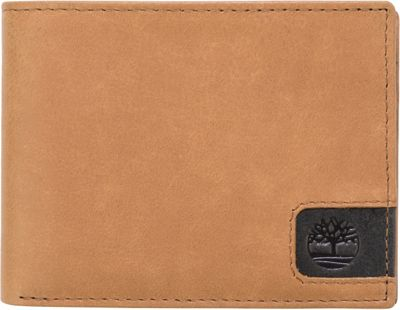 Timberland Wallets Cloudy Logo Tab Passcase Tan - Timberland Wallets Men's Wallets
