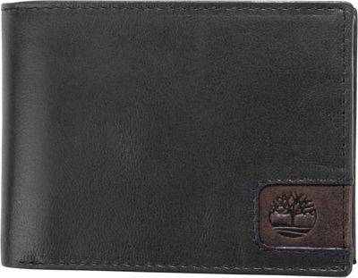 Timberland Wallets Cloudy Logo Tab Passcase Black - Timberland Wallets Men's Wallets