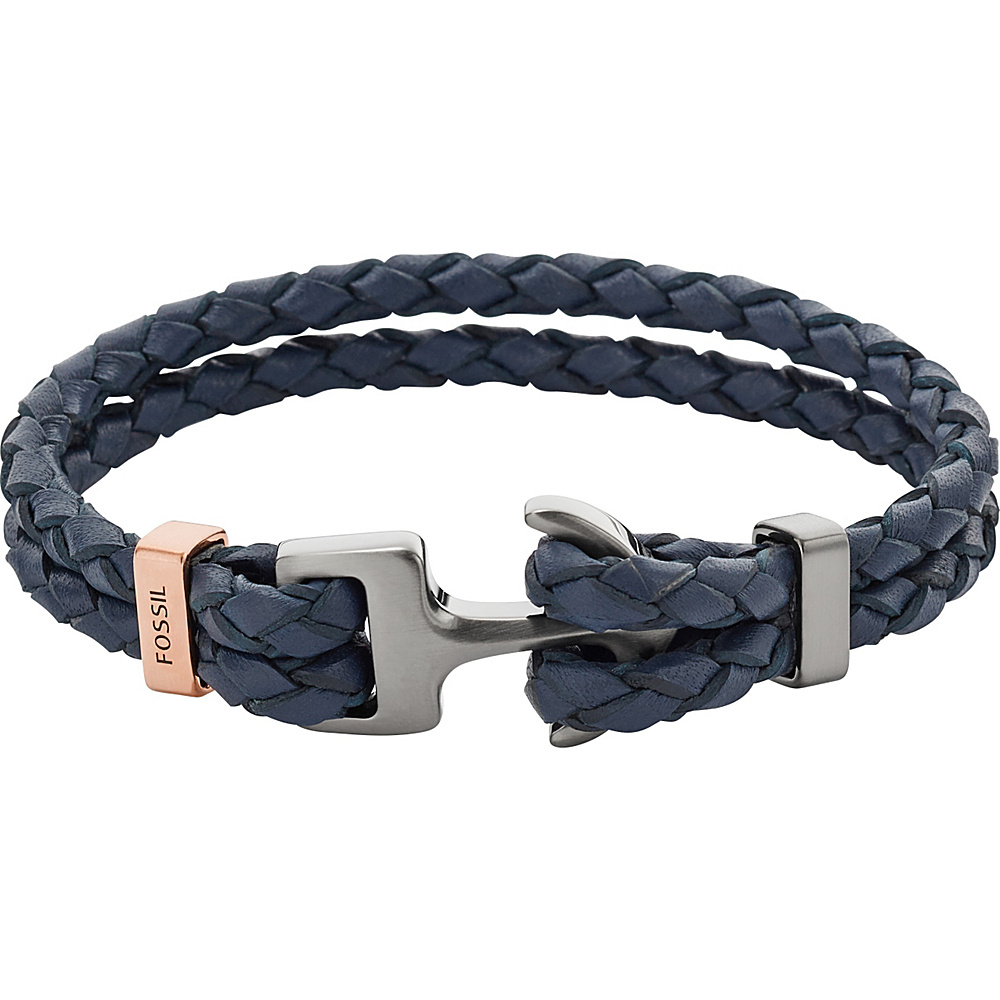 9d782df9186190 UPC 796483182561 product image for Fossil Anchor Bracelet Blue and Black -  Fossil Jewelry | upcitemdb ...