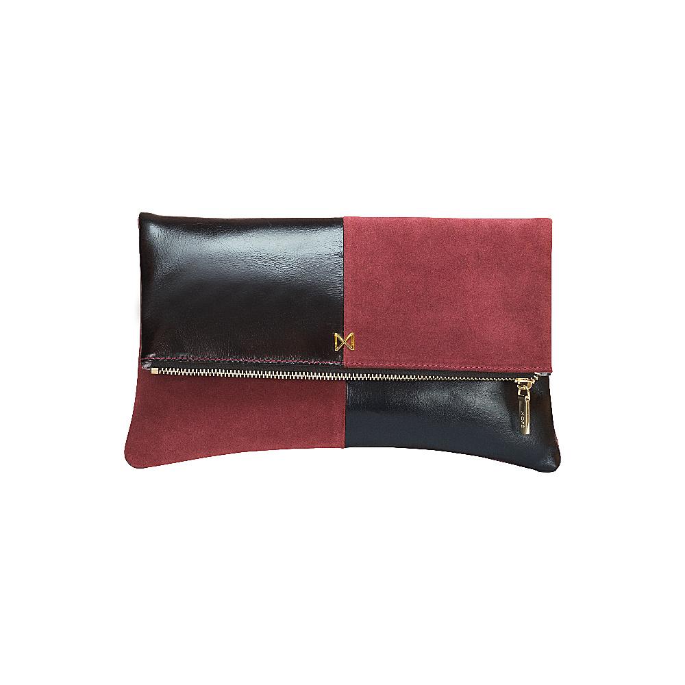 MOFE Esoteric Clutch Maroon Black Gold MOFE Leather Handbags