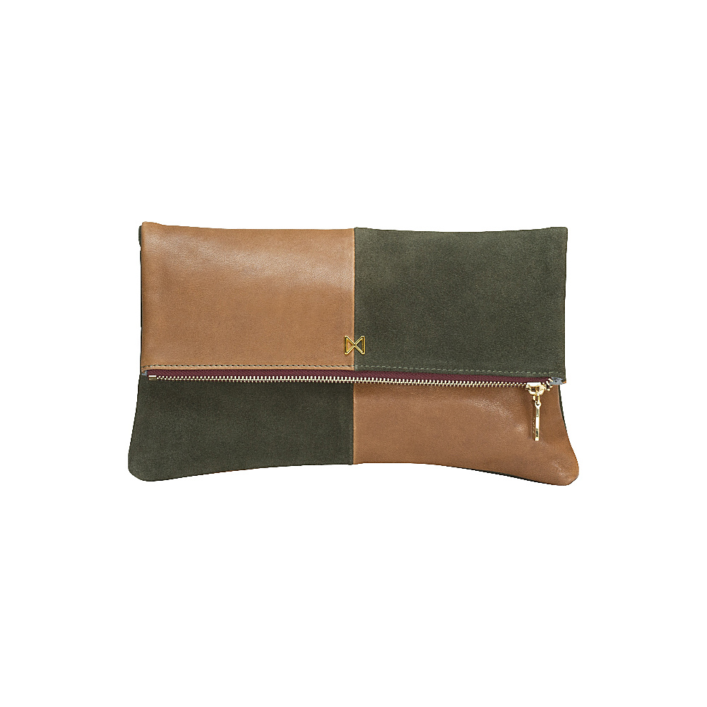 MOFE Esoteric Clutch Moss Taupe Gold MOFE Leather Handbags