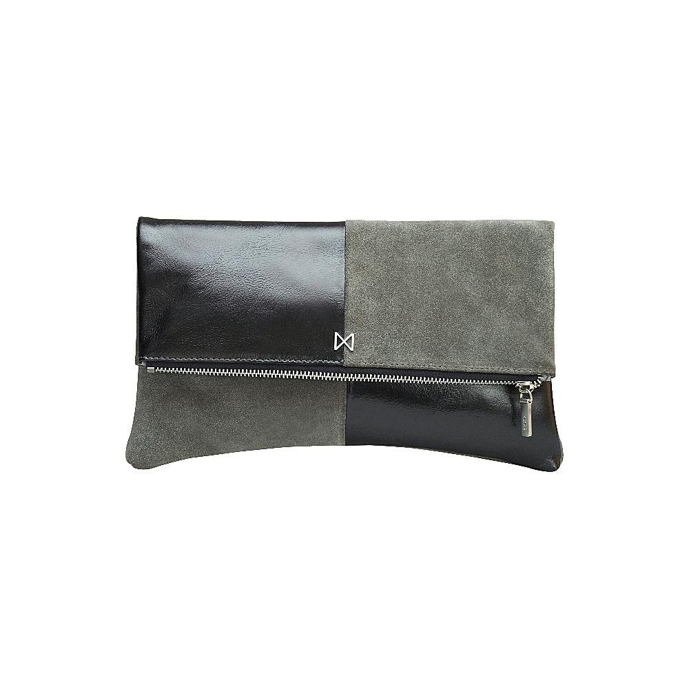 MOFE Esoteric Clutch Cobalt Blue Black Matte Nickel MOFE Leather Handbags