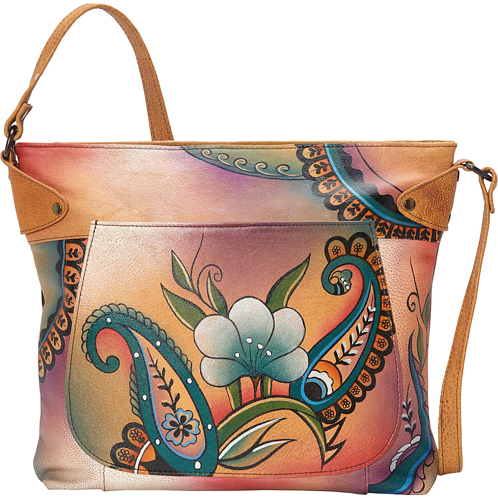 ANNA by Anuschka Medium Convertible Tote Floral Paisley ANNA by Anuschka Leather Handbags