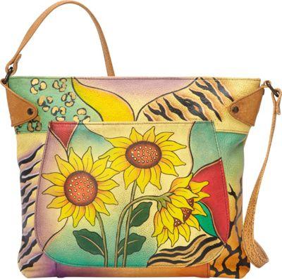 ANNA by Anuschka Medium Convertible Tote Sunflower Safari - ANNA by Anuschka Leather Handbags