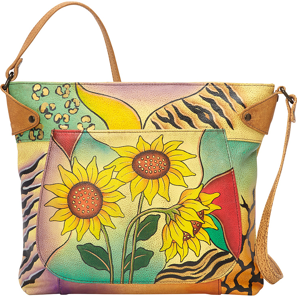 ANNA by Anuschka Medium Convertible Tote Sunflower Safari ANNA by Anuschka Leather Handbags