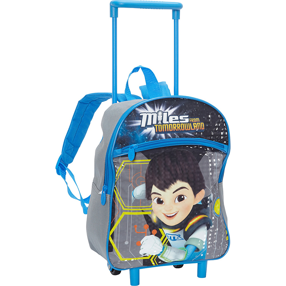 Disney Miles 12 Inch Rolling Backpack Blue - Disney Wheeled Backpacks