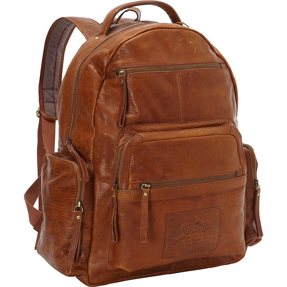 Rawlings Rugged Backpack Cognac Rawlings Business Laptop Backpacks