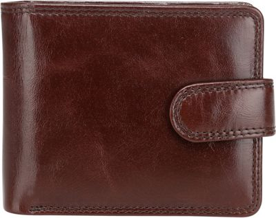 Vicenzo Leather Pelotas Distressed Leather Bifold Wallet Espresso Brown - Vicenzo Leather Men's Wallets