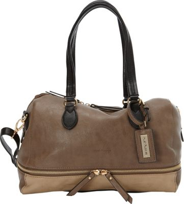 Hush Puppies Shoulder Bag with Double Slider Pulls Taupe Multi - Hush Puppies Manmade Handbags
