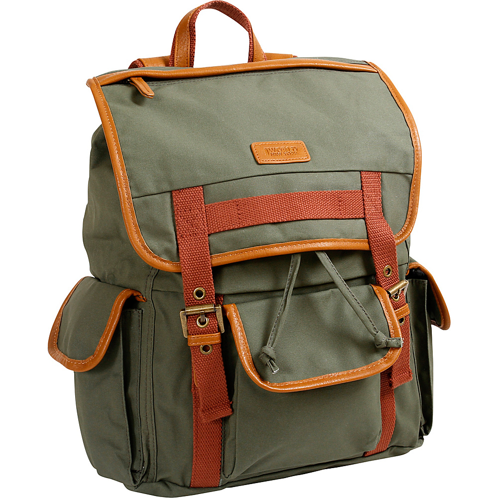 J World New York Joey Canvas Backpack Khaki - J World New York Everyday Backpacks - Backpacks, Everyday Backpacks