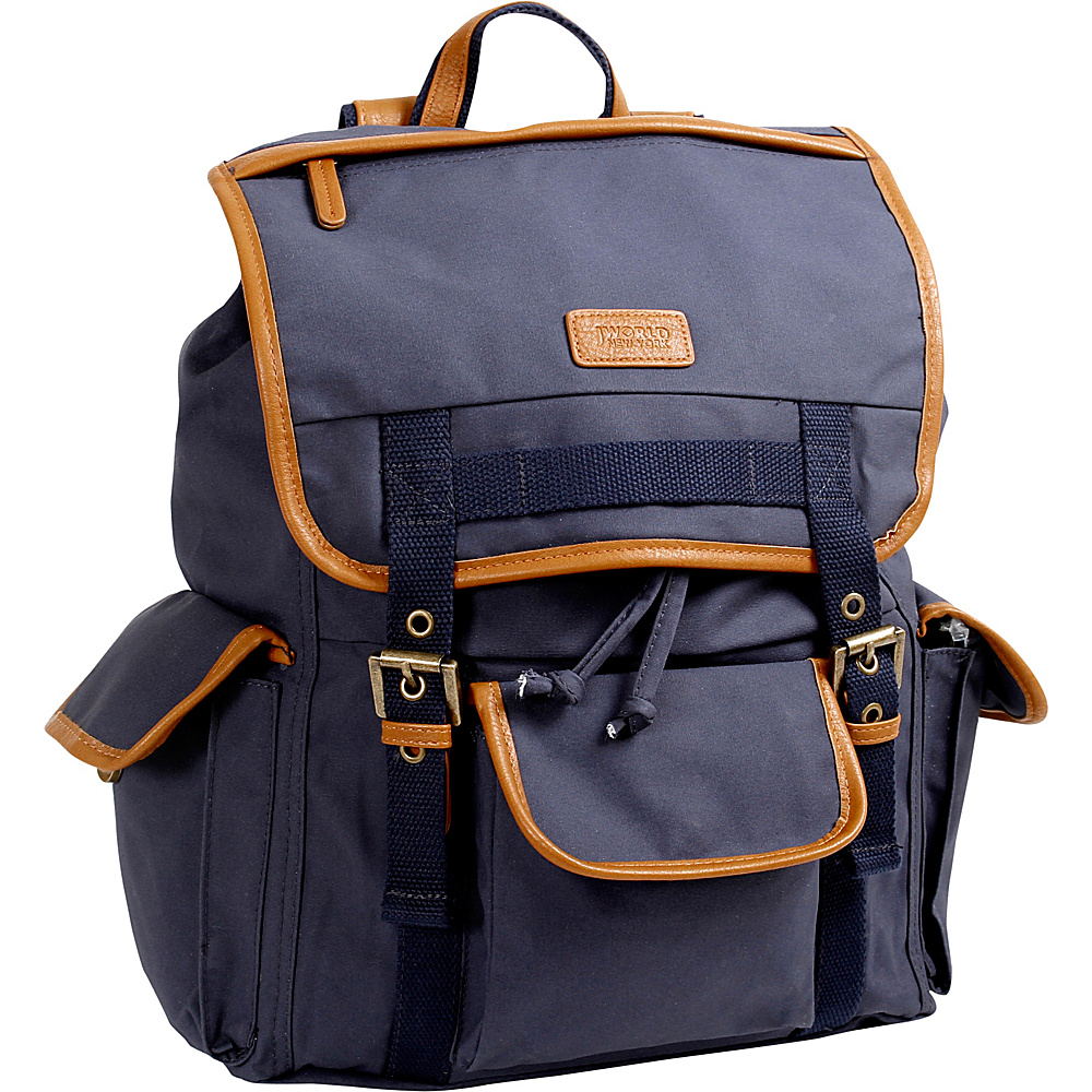J World New York Joey Canvas Backpack Navy - J World New York Everyday Backpacks - Backpacks, Everyday Backpacks