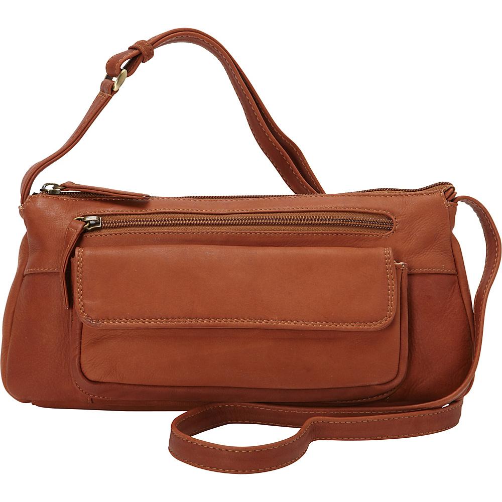 Derek Alexander Small E/W Top Zip Crossbody Tan - Derek Alexander Leather Handbags - Handbags, Leather Handbags
