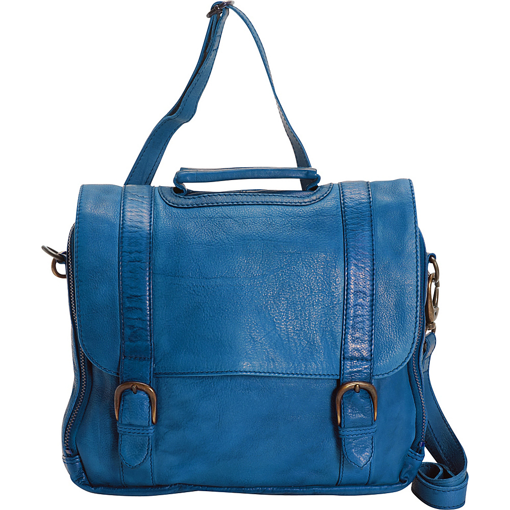 Latico Leathers Harlan Crossbody Crinkle Blue - Latico Leathers Leather Handbags - Handbags, Leather Handbags
