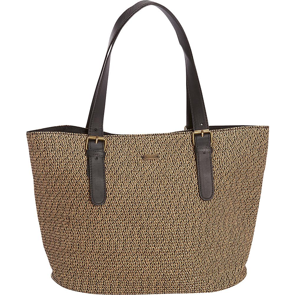 Sun N Sand Morocco Sand Shoulder Tote Black/Gold - Sun N Sand Straw Handbags - Handbags, Straw Handbags