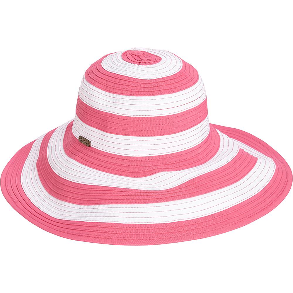 Sun N Sand Striped Sun Hat Fuchsia - Sun N Sand Hats/Gloves/Scarves - Fashion Accessories, Hats/Gloves/Scarves