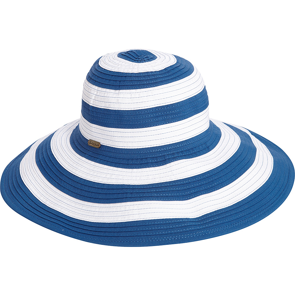 Sun N Sand Striped Sun Hat One Size - Blue - Sun N Sand Hats/Gloves/Scarves - Fashion Accessories, Hats/Gloves/Scarves