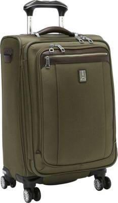 Travelpro Platinum Magna 2 Expandable Spinner Luggage - 21 inch Olive - Travelpro Softside Carry-On