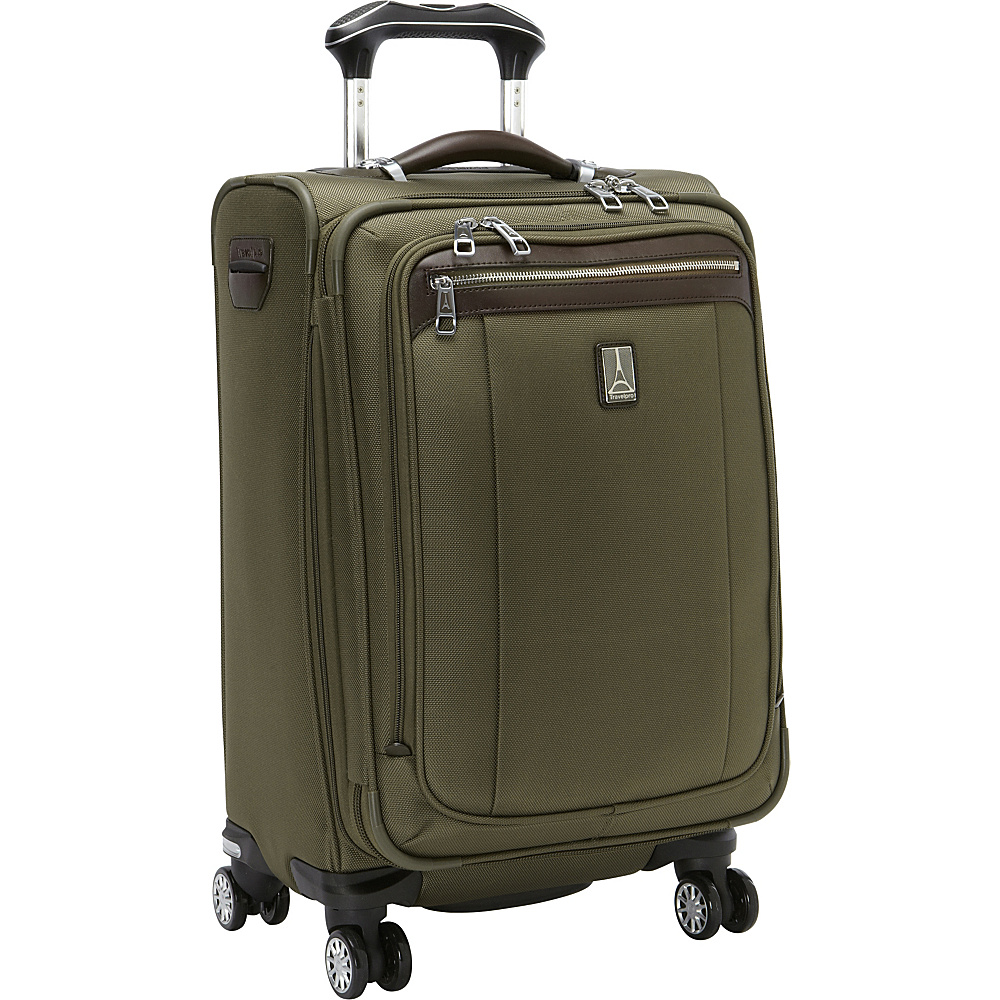 "Travelpro Platinum Magna 2 Expandable Spinner Luggage - 21"" Olive - Travelpro Softside Carry-On"