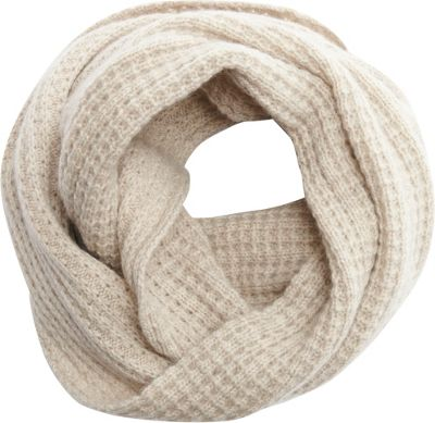 Kinross Cashmere Tuckstitch Infinity Scarf Fawn - Kinross Cashmere Scarves
