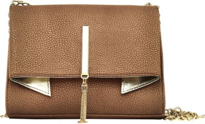 Nicole Miller New York Nicole Miller New York Trina Clutch Crossbody Copper/Gold - Nicole Miller New York Leather Handbags