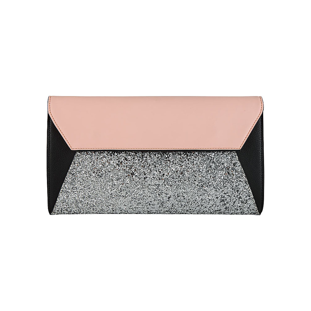 Melie Bianco Tina Clutch Pink - Melie Bianco Manmade Handbags