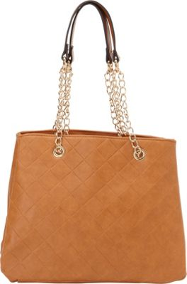 SW Global Ellen Chain Strap Tote Bag Taupe - SW Global Manmade Handbags