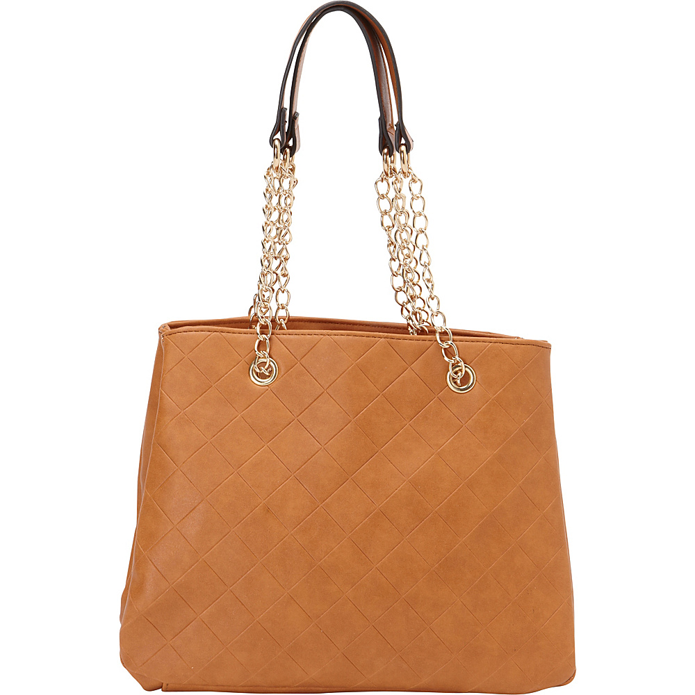 SW Global Ellen Chain Strap Tote Bag Taupe - SW Global Manmade Handbags - Handbags, Manmade Handbags