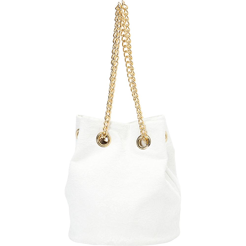 SW Global Omie Chain Strap Shoulder Bag White - SW Global Manmade Handbags