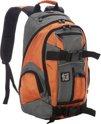 ful 20 inch Overton Backpack Orange - ful Everyday Backpacks