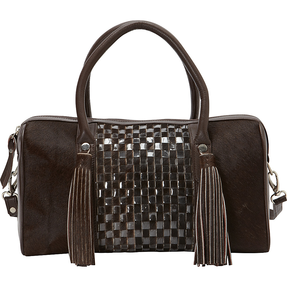 Scully Haircalf Leather Satchel Chestnut Scully Leather Handbags