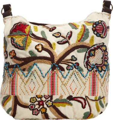 Scully Embroidered Shoulder Bag Multi - Scully Fabric Handbags