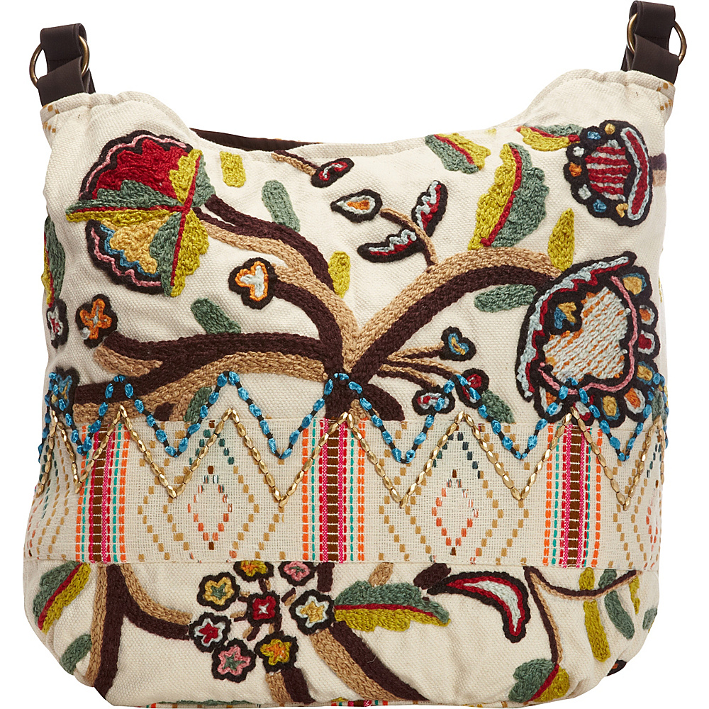 Scully Embroidered Shoulder Bag Multi Scully Fabric Handbags