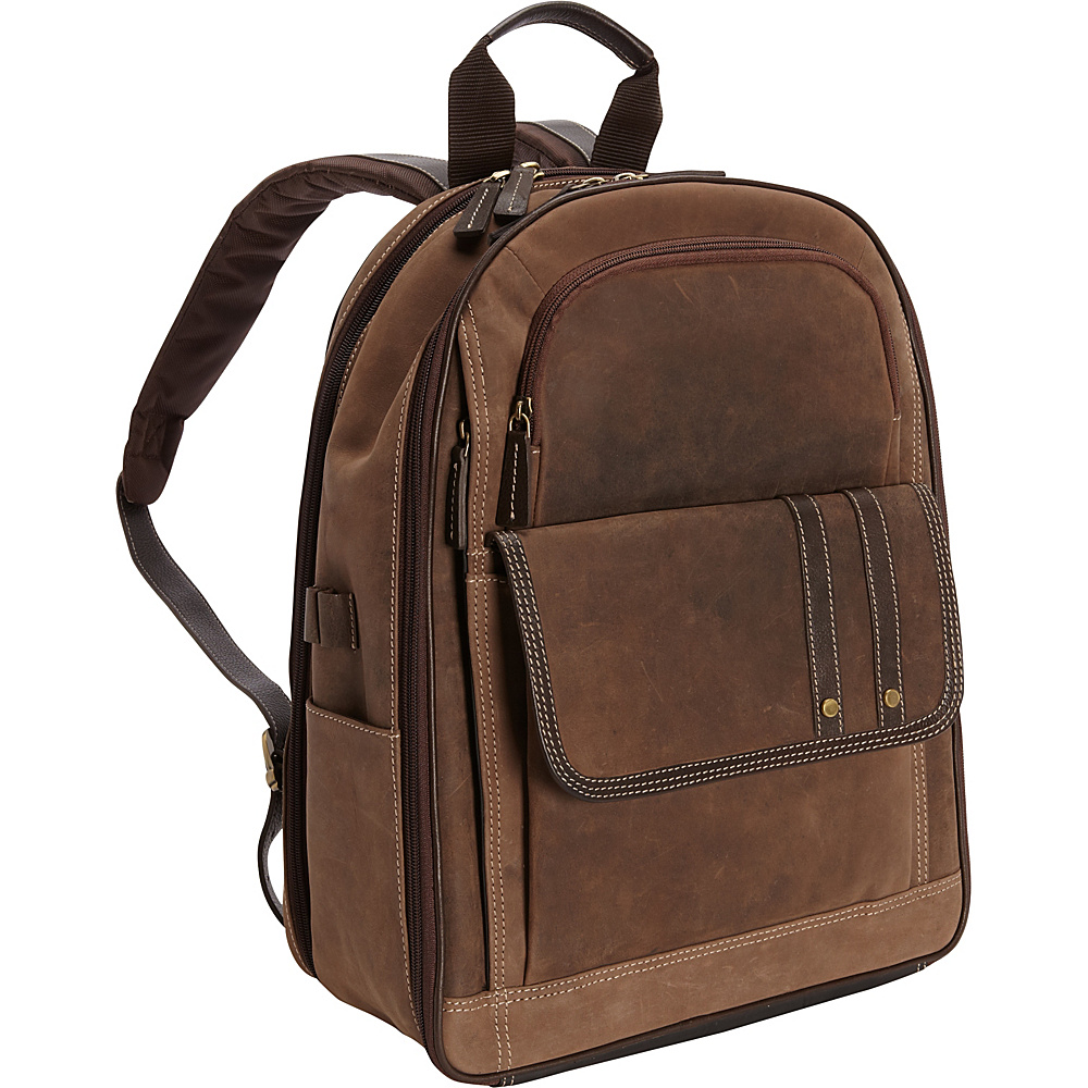 Bellino Tuscany Computer Backpack Brown - Bellino Business & Laptop Backpacks