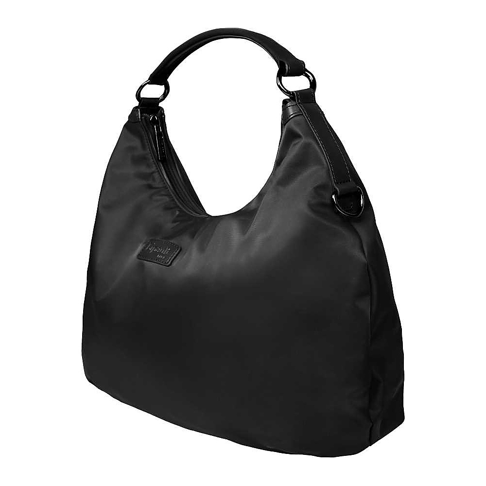 Lipault Paris Hobo Bag L Black Lipault Paris Fabric Handbags