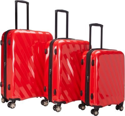McBrine Luggage A747 Expandable 3pc Luggage Set Red - McB...
