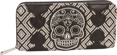 Loungefly Tweed Wallet Black/White - Loungefly Women's Wallets