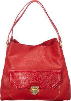 Olivia + Joy Elaine Double Handle Shoulder Bag Lipstick Red - Olivia + Joy Manmade Handbags