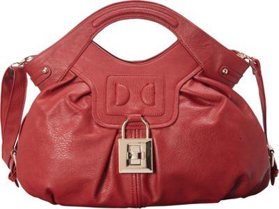 Donna Bella Designs Damita Satchel Red - Donna Bella Designs Manmade Handbags