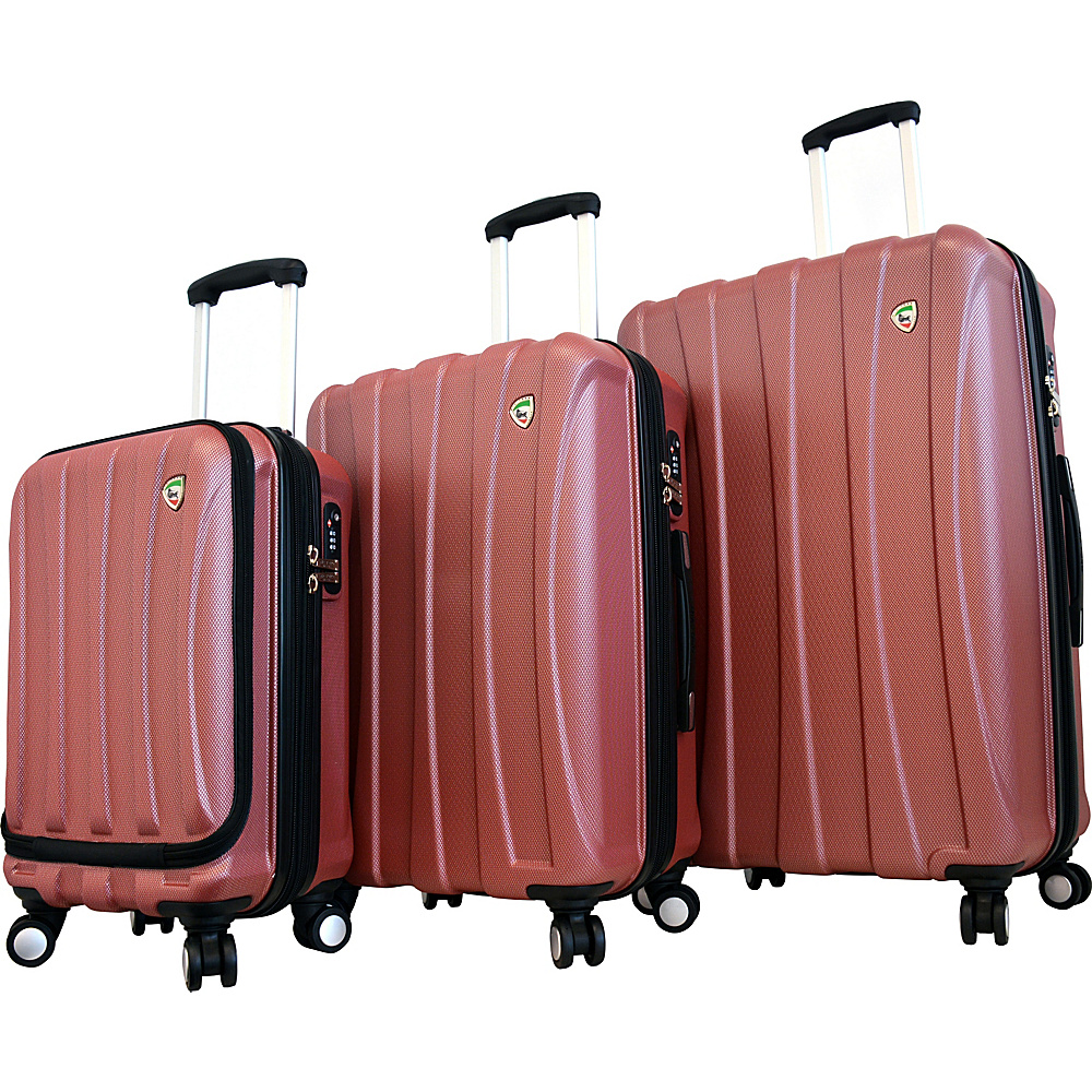 Mia Toro ITALY Tasca Fusion Hardside Spinner Luggage 3PC Set Red Mia Toro ITALY Luggage Sets