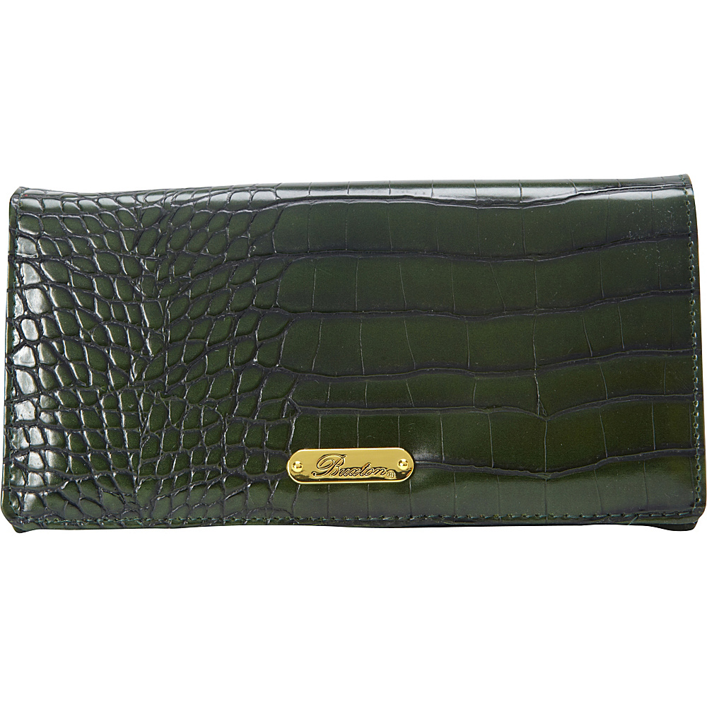 Buxton Nile Exotic Expandable Clutch Pineneedle - Buxton Womens Wallets - Women's SLG, Women's Wallets