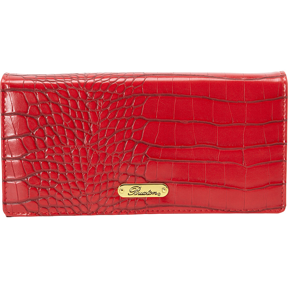Buxton Nile Exotic Expandable Clutch Red - Buxton Womens Wallets - Women's SLG, Women's Wallets