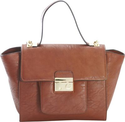 Diophy Studded Satchel Brown - Diophy Manmade Handbags