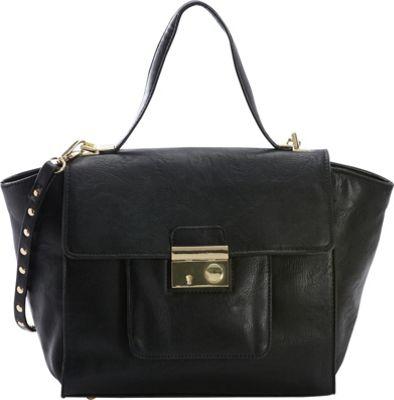 Diophy Studded Satchel Black - Diophy Manmade Handbags