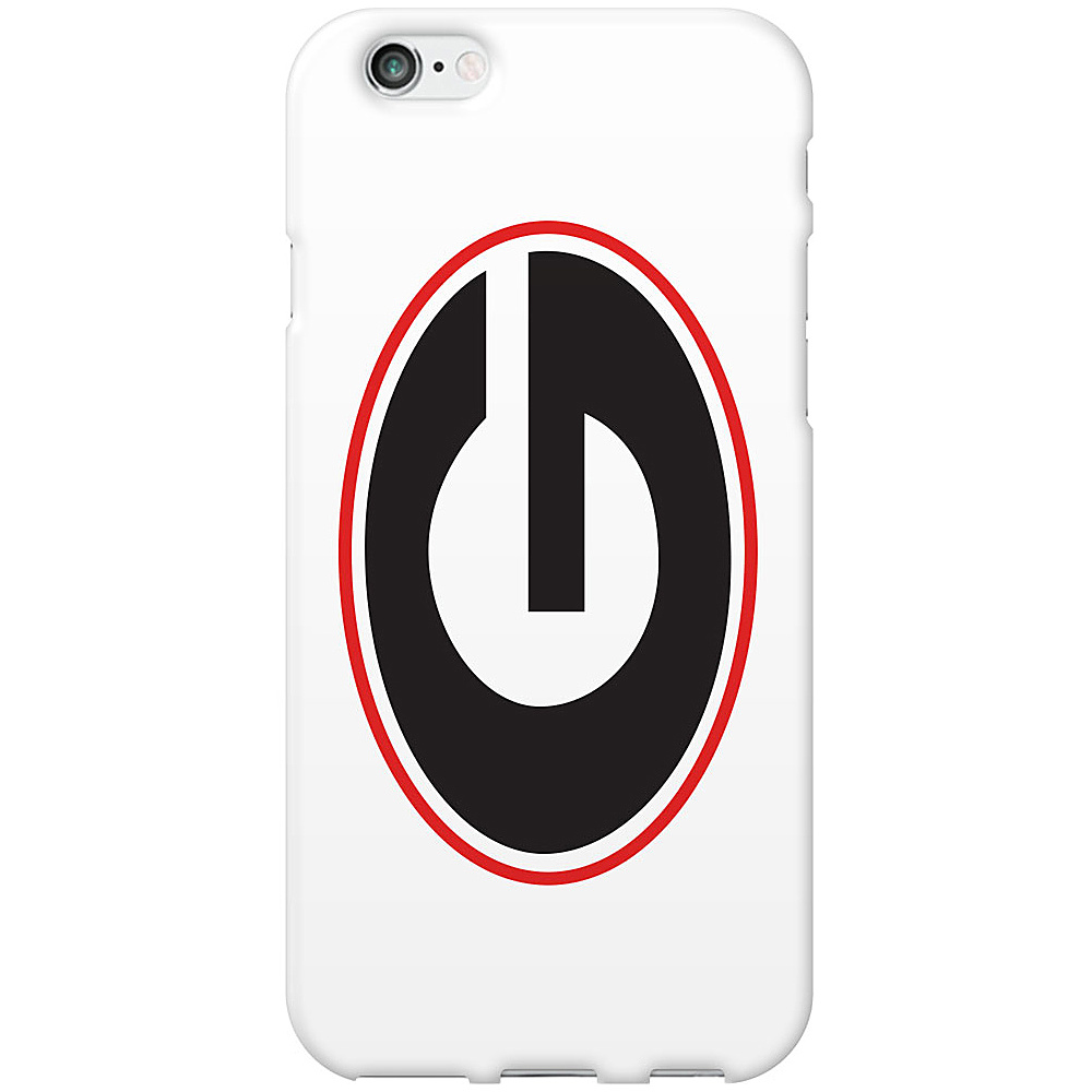 Centon Electronics Classic Glossy White iPhone 6 Case University of Georgia Centon Electronics Electronic Cases